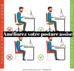 Comment améliorer sa posture assise au bureau?